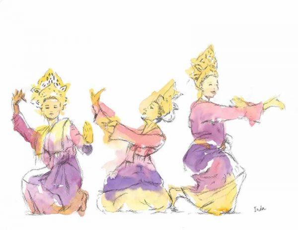 Dancing in the glow print